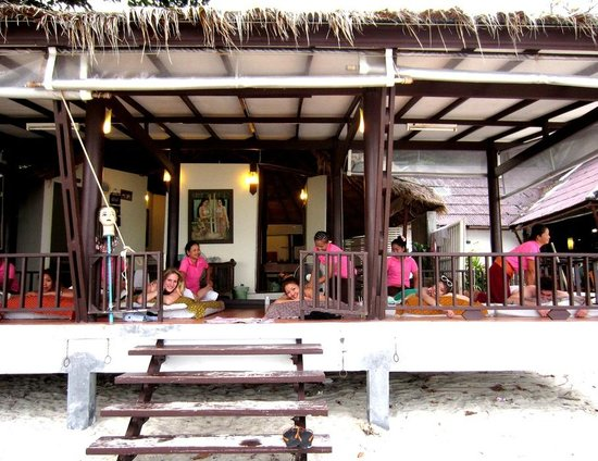 The Island Resort and Spa: Beachside massage parlour just adjacent the resort when you step outside