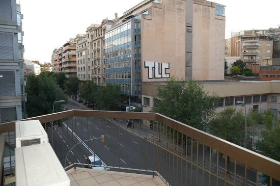 Mercure Alberta Barcelona: Вид с балкона.