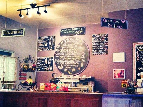 Galiano's Cafe & Smoothies: Menu
