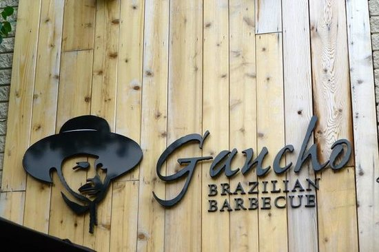 Gaucho Brazilian Barbecue: Sign above the Entrance to Gaucho Brazilian Berbeque