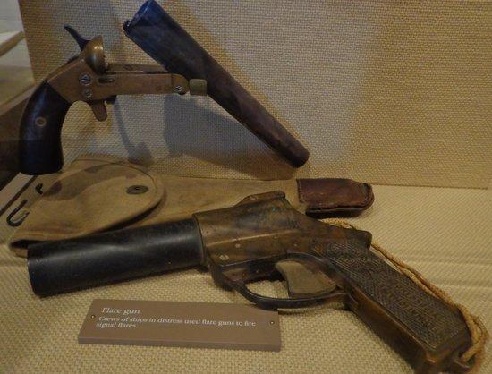 Old Coast Guard Station: Old flare guns