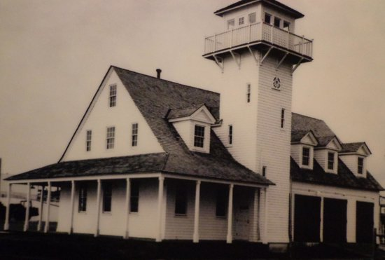 Old Coast Guard Station: Old picture of the building
