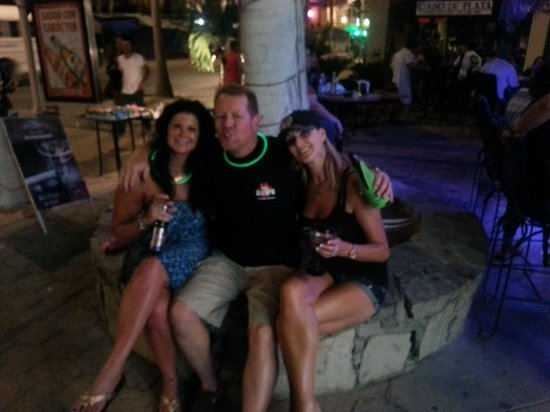 Cabo Blue: Lisa and I with owner Amanda.