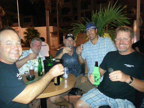Cabo Blue: Brews and Shots for the guys!!