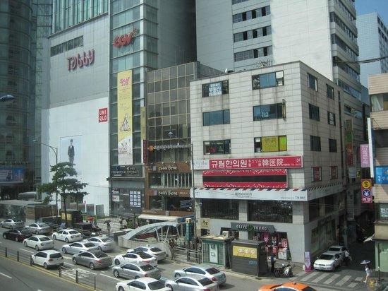 Prince Hotel Seoul: Myeongdong across the street