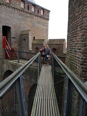 Kasteel Muiderslot : relatives visiting this charming little castle.