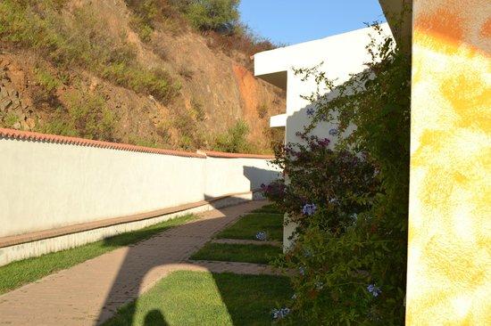 Hotel Pedra Ruja : spazio verde accanto alla camera