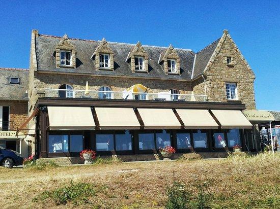 Hotel Restaurant Pointe du Grouin: Bâtiment principal et salle à manger