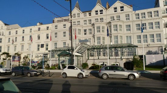 The Empress Hotel: View from the prom.