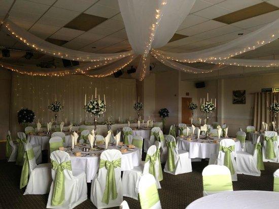 The Glyn Clydach Carvery: Abbey Suite ready for a Wedding.