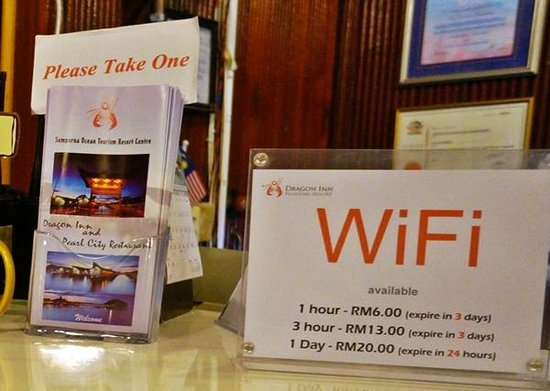 Dragon Inn Resort: Wifi