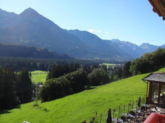 Hotel Tanneck: Blick nach Oberstdorf