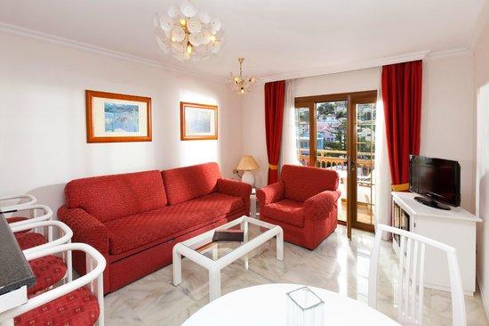 Apartamentos Casablanca: Salón apto 1 dormitorio