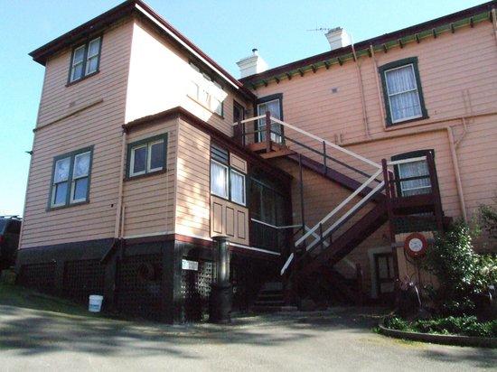 Edenholme Grange: Steps to the Varandah of our room