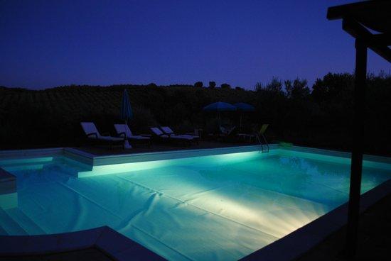 Agriturismo Castrum Normanno: piscina by night