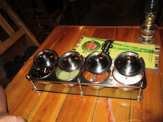 Bamboo Hut: menu