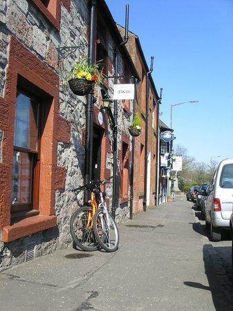 Bikes outside Croft Cottage B&B
