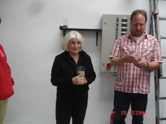 Christine at the Black Isle Brewery