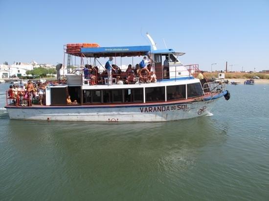 Tavira Island: one of the boats to the island of Tavira