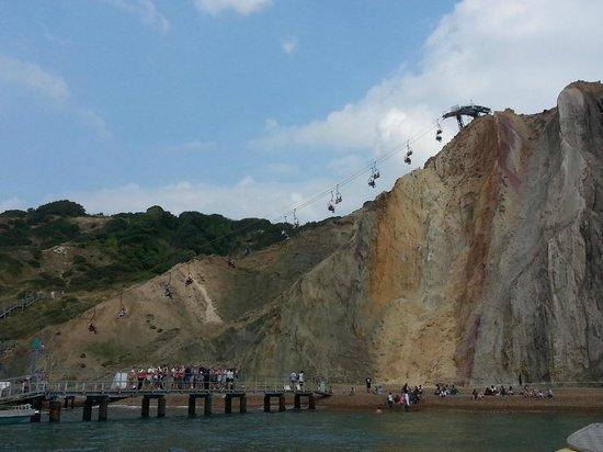 Needles Pleasure Cruises Ltd: cliff lift