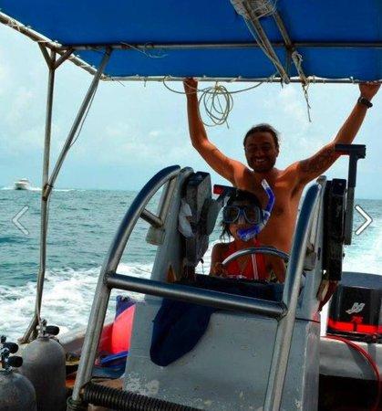 Cancun Diving College : con mi peque lili