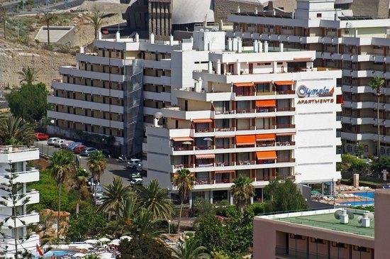 Olympia Aparthotel : Вид на отель сверху