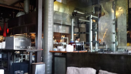 Two Urban Licks : See the red pendant lights, the bar is just beyond that.  The band is on the other side of the b