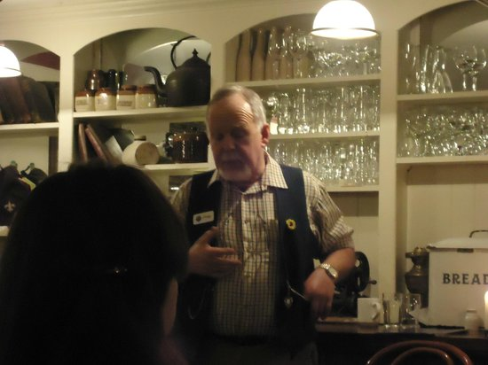 An Evening of Food, Folklore and Fairies: Johnny our amazing story teller.