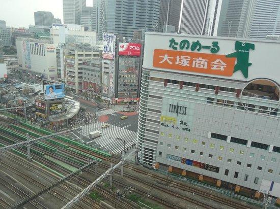 Shinjuku Prince Hotel : Au dessus de la gare