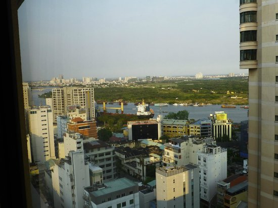 Caravelle Saigon: The Saigon River from our room