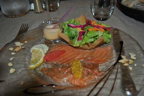 Restaurant Capion: Saumon frais mariné aux agrumes