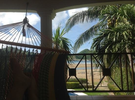 HC Liri Hotel: view from second floor hammocks