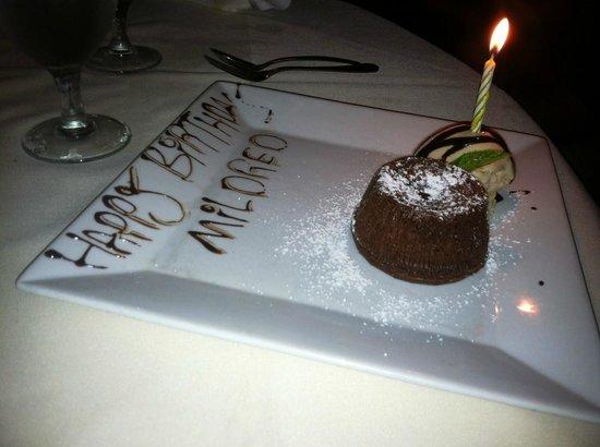 Grazie: Volcan dessert