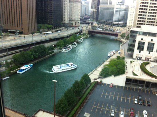 view from our room picture of sheraton grand chicago. Black Bedroom Furniture Sets. Home Design Ideas