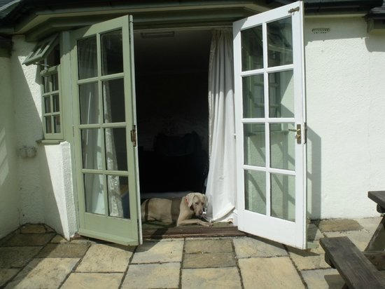 The Culbone Stables Inn: Private patio
