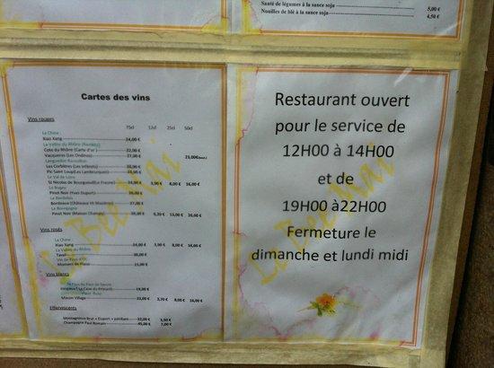 Ferney-Voltaire, France: Menü