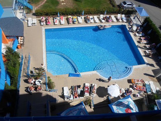 Amaris Hotel: view of swimming pool from 6th floor.