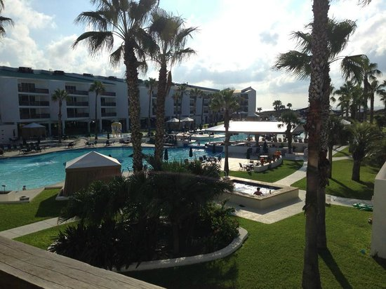 Port Royal Ocean Resort & Conference Center: View from the balcony out on the pools