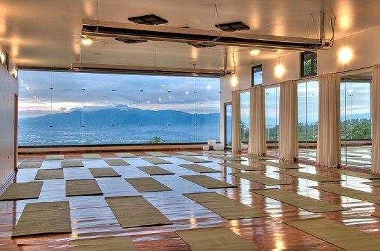 Pura Vida Retreat & Spa: One of the yoga rooms we use.