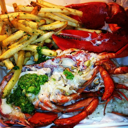 Live lobster picture of pier 76 fish grill long beach for Fish and grill