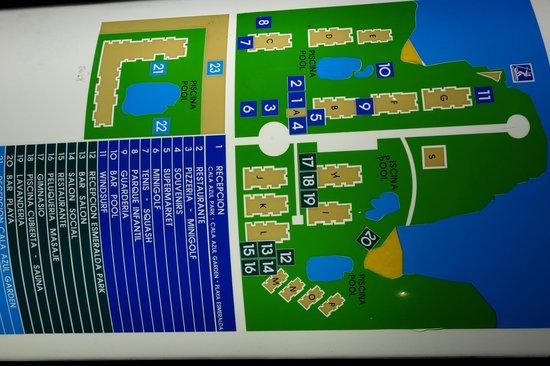 Inturotel Cala Azul Park: Lageplan der verschieden Blocks