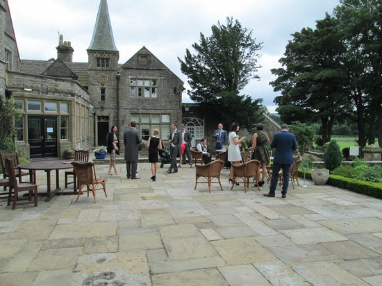Simonstone Hall Country House Hotel: the patio