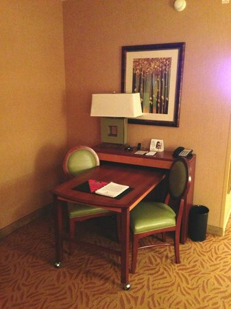 Embassy Suites by Hilton Omaha-La Vista/Hotel & Conference Center: living area - desk