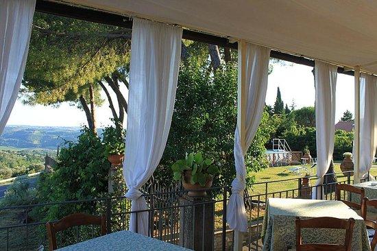 Villa Il Fedino: Breakfast with a view