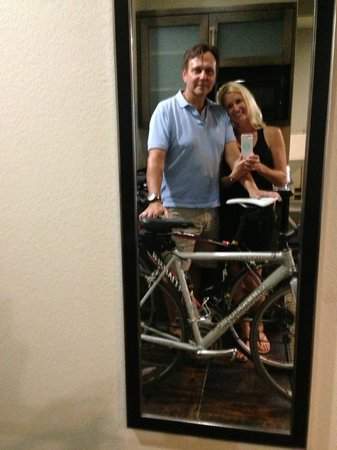 Best Western Premier Crown Chase Inn & Suites: We kept our bikes in our room! #bikerFriendly