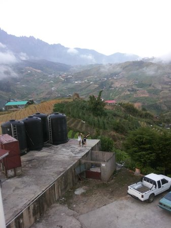 The Cottage Hotel Kundasang: View from my room @ 2nd floor