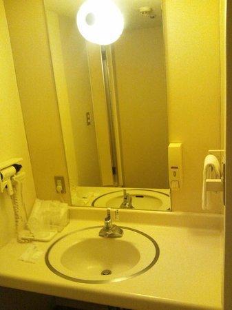 Hotel Awina Osaka: 基本的なアメニティーが揃った洗面台