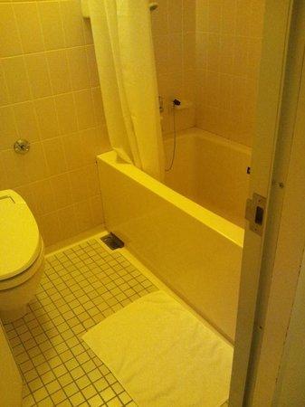 Hotel Awina Osaka: 下がタイルのバスルーム、トイレも一緒