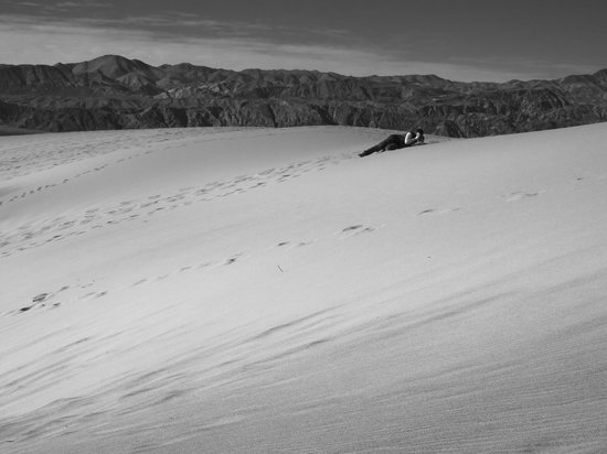 Mesquite Flat Sand Dunes: Laying on the dunes