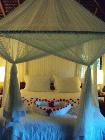 Villas de Trancoso Hotel : Quarto decorado para lua de mel